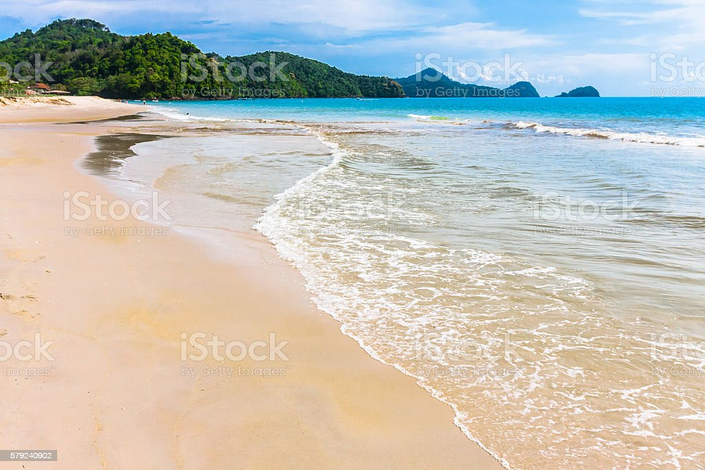Sandy Beach in Langkawi stock photo