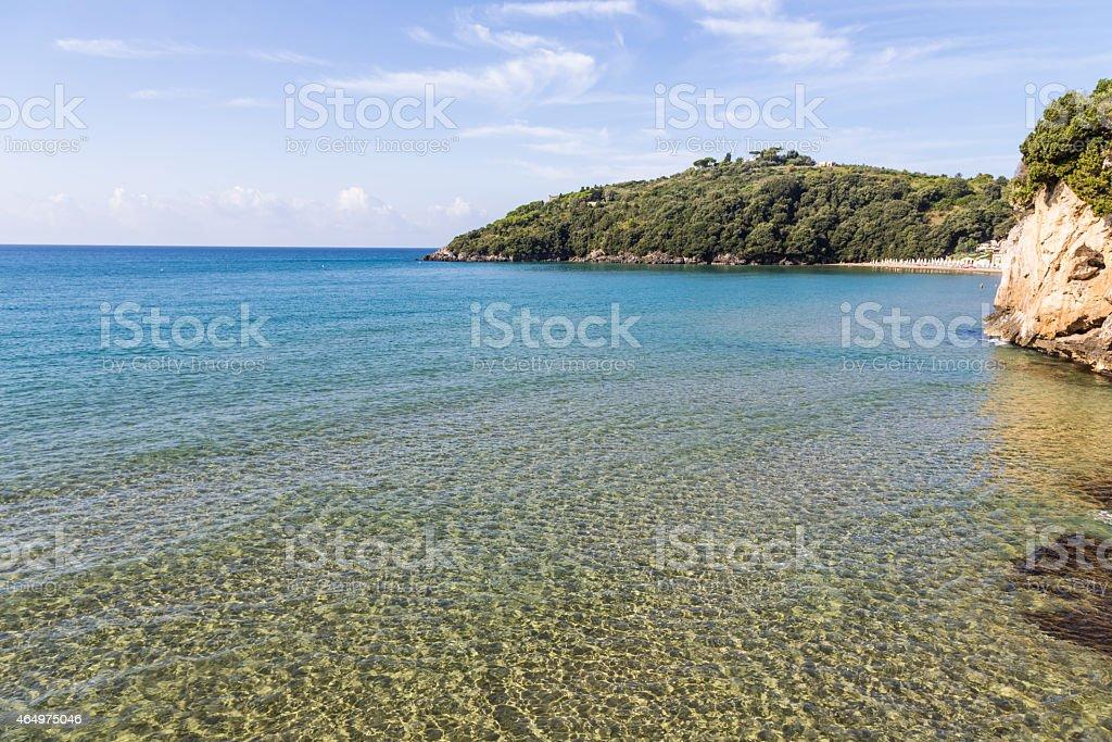sandy beach in Lazio, Italy stock photo