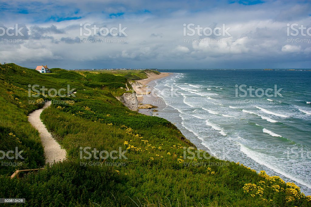 Sandy Beach near Portrush in Northern Ireland stock photo