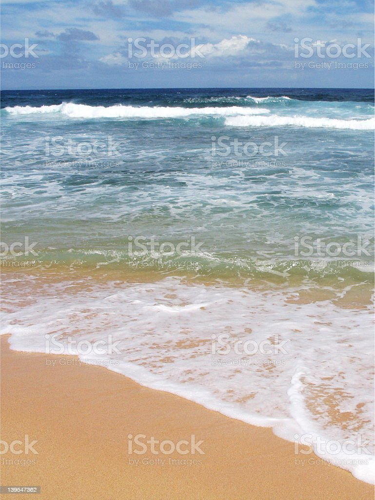 Sandy Beach, Oahu royalty-free stock photo