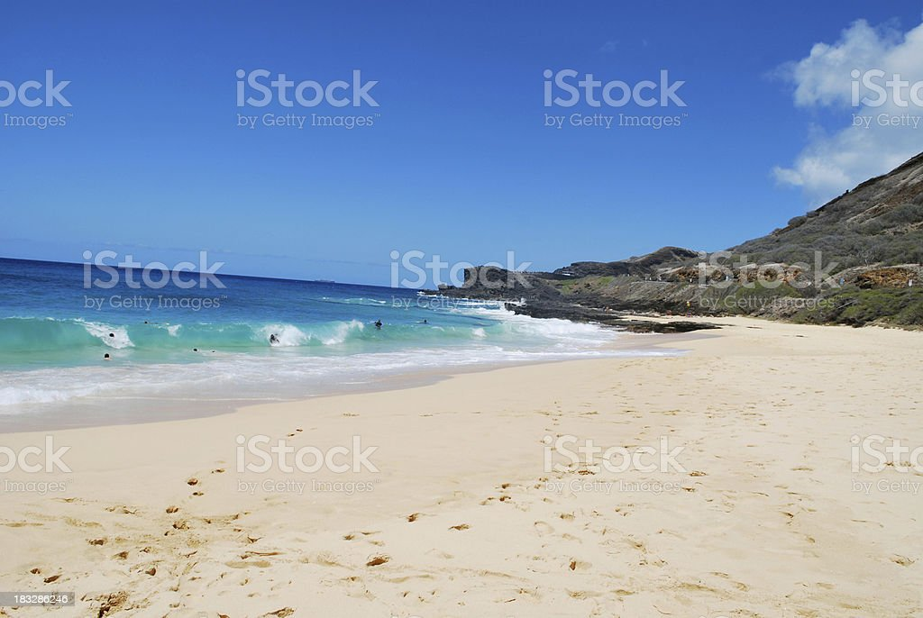 Sandy Beach, Oahu stock photo
