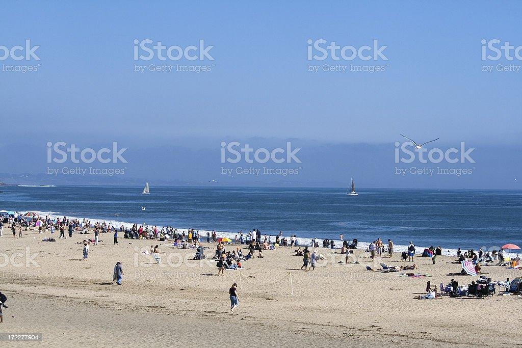 Sandy Beach Of Santa Cruz royalty-free stock photo