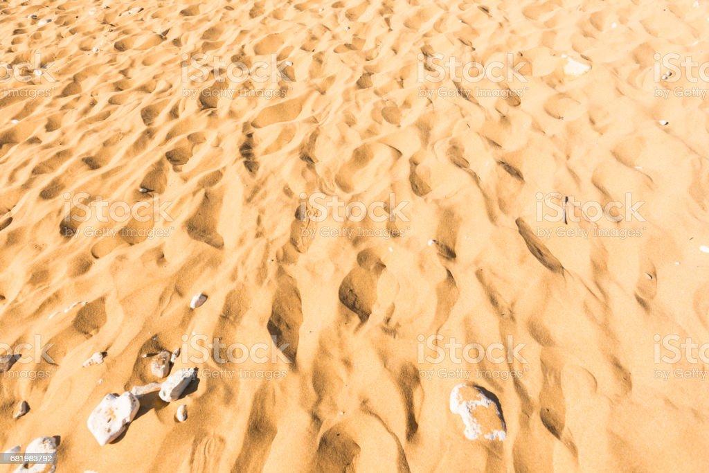 Sandy beach on Gozo island, Malta stock photo
