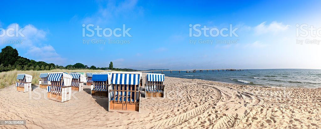 Sandy beach on island Rugen, Northern Germany stock photo