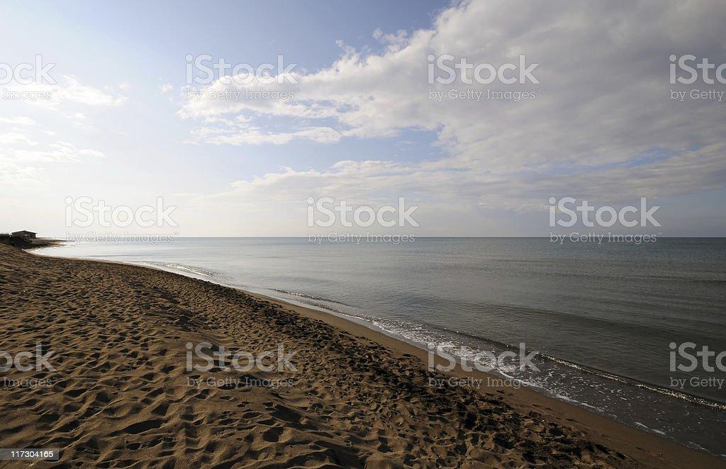 Sandy beach foto stock royalty-free