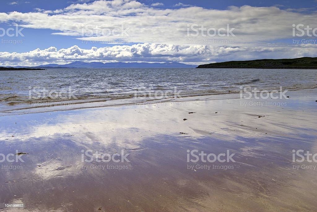 Sandy beach, Redpoint, Wester Ross stock photo