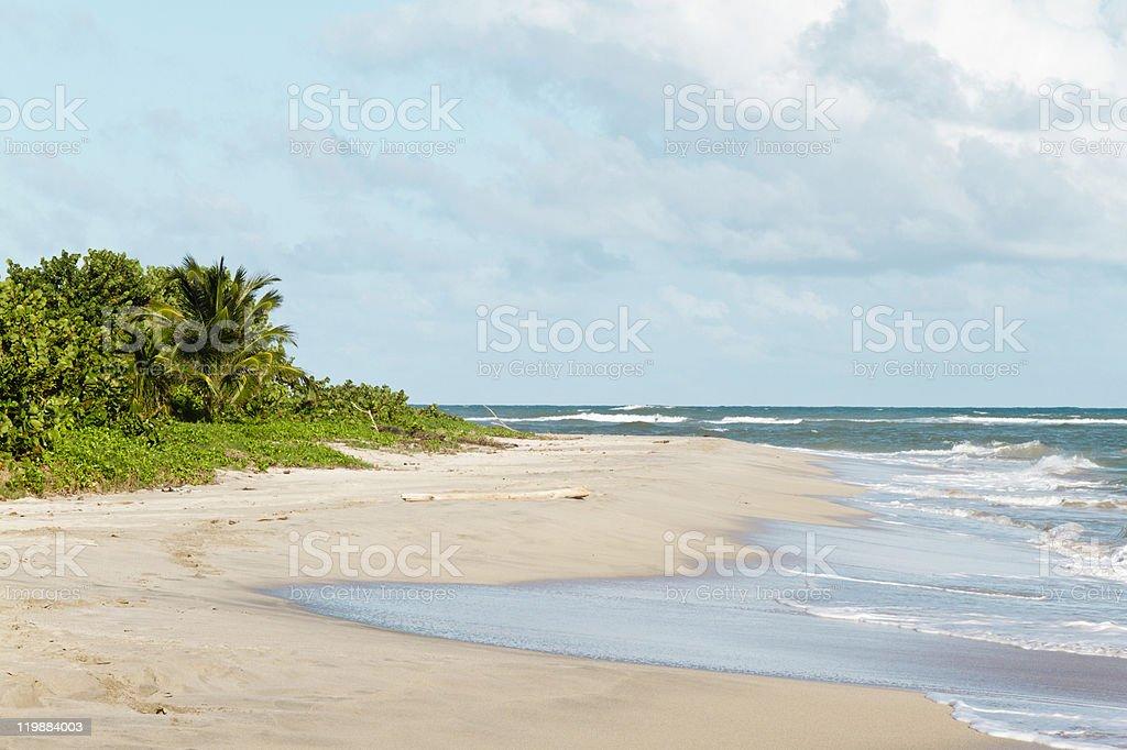 Sandy Beach, Vieux Fort, Saint Lucia stock photo