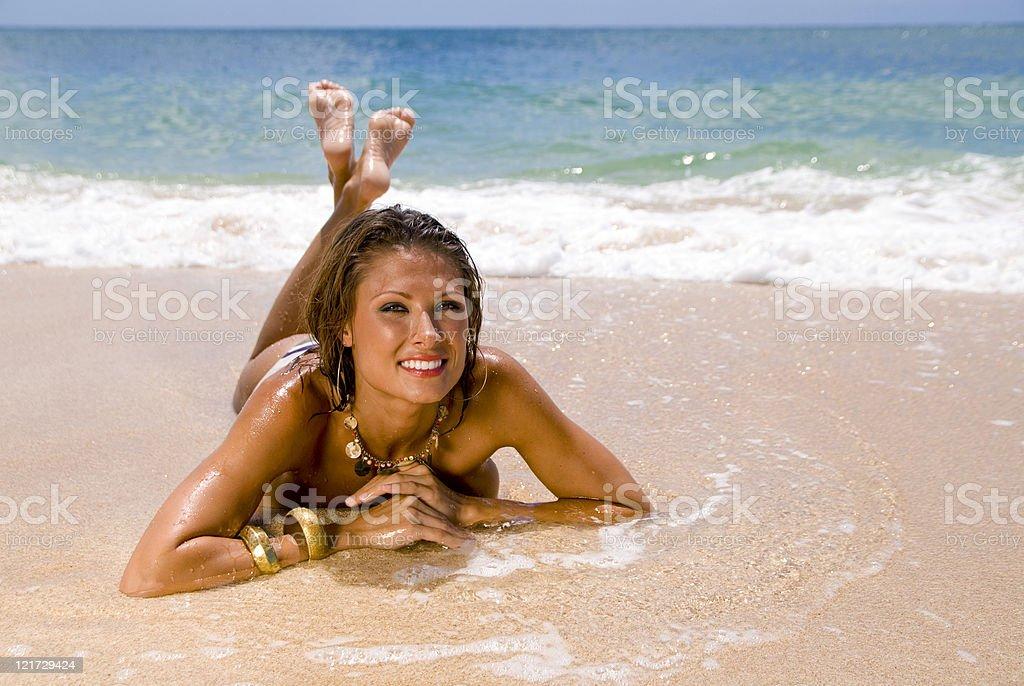 Sandy Beauty royalty-free stock photo