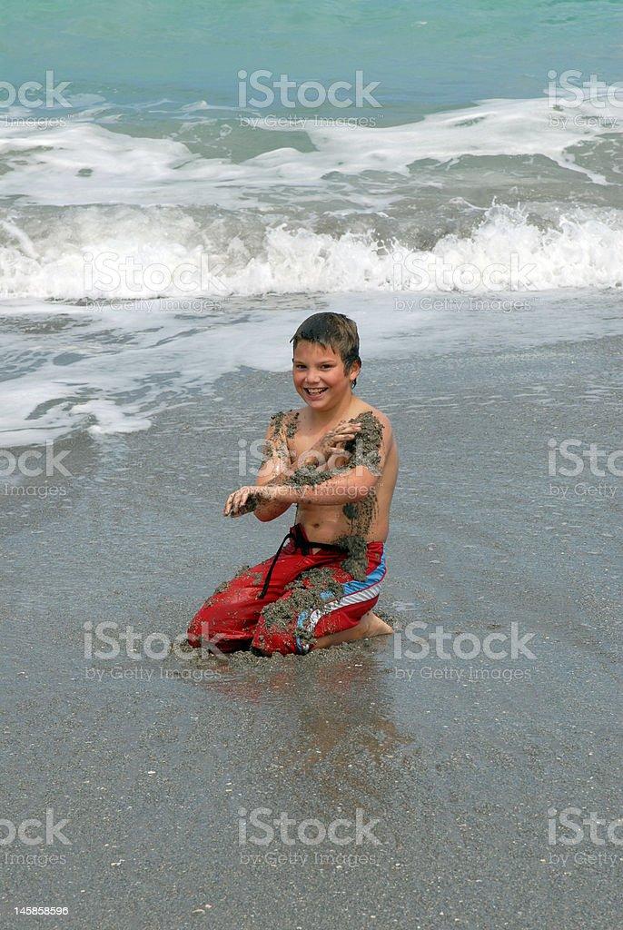 Sandy Jungen Lizenzfreies stock-foto