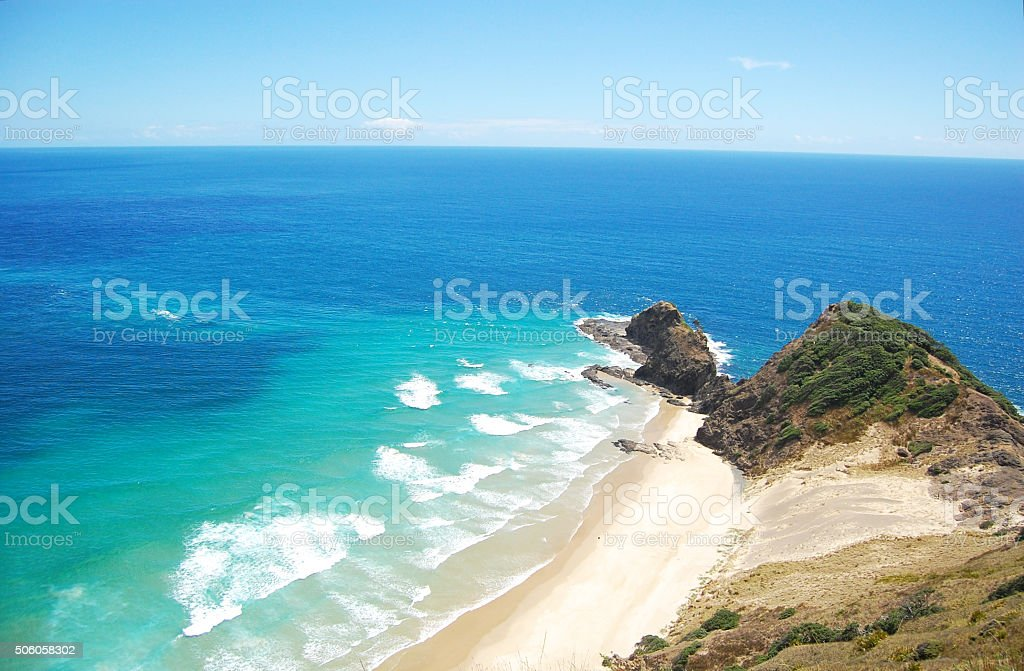 Sandy coast at cape stock photo