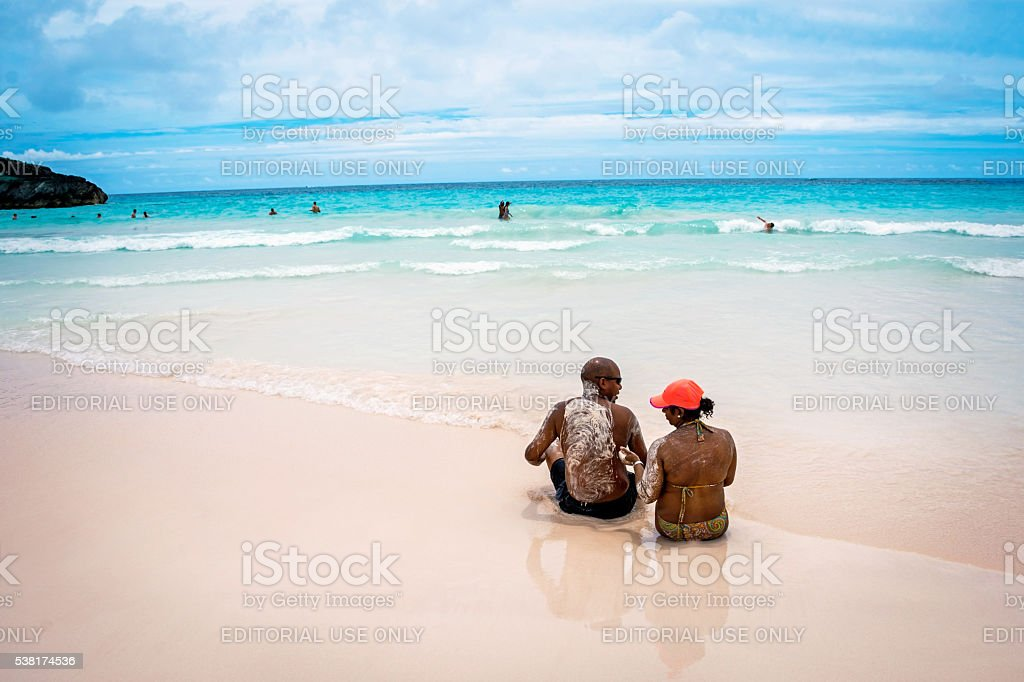 Sandy Couple Bermuda stock photo