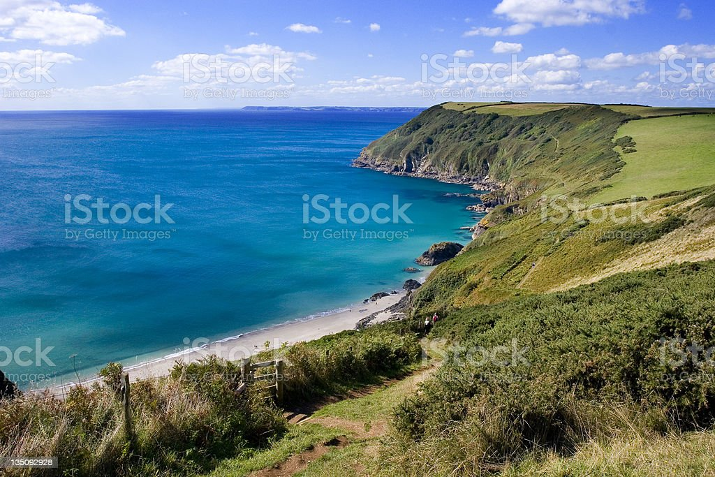 Sandy Cove in Cornwall royalty-free stock photo