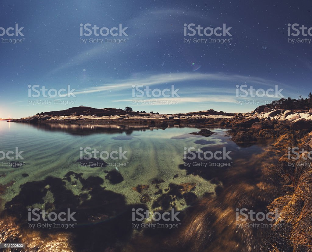 Sandy Cove in the Stars stock photo
