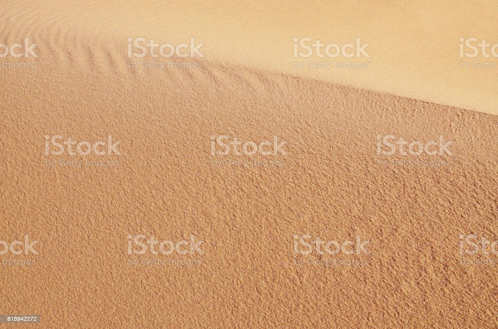 Sandy dune. Natural background stock photo