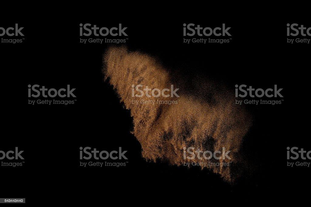 Sandy explosion. stock photo