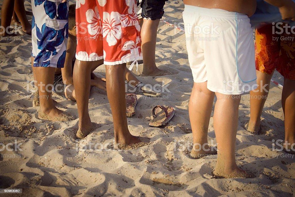 Sandy Feet royalty-free stock photo
