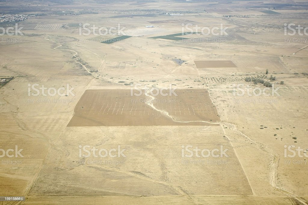 Sandy fields royalty-free stock photo