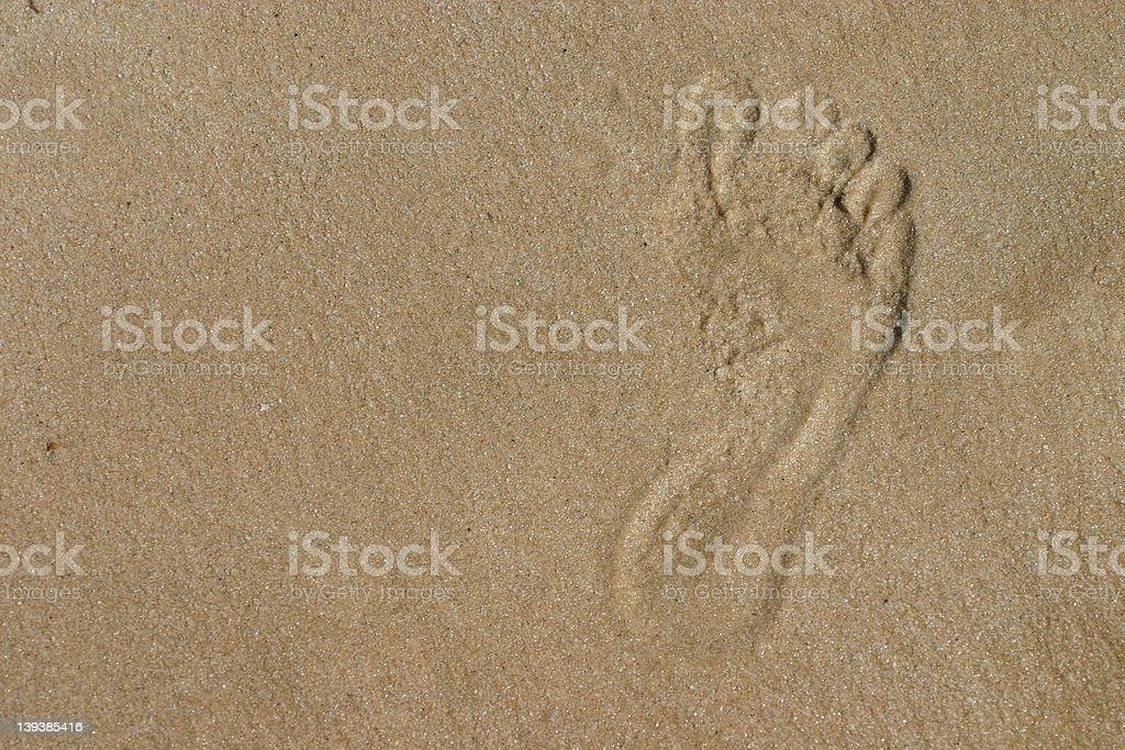 Sandy Footprint royalty-free stock photo
