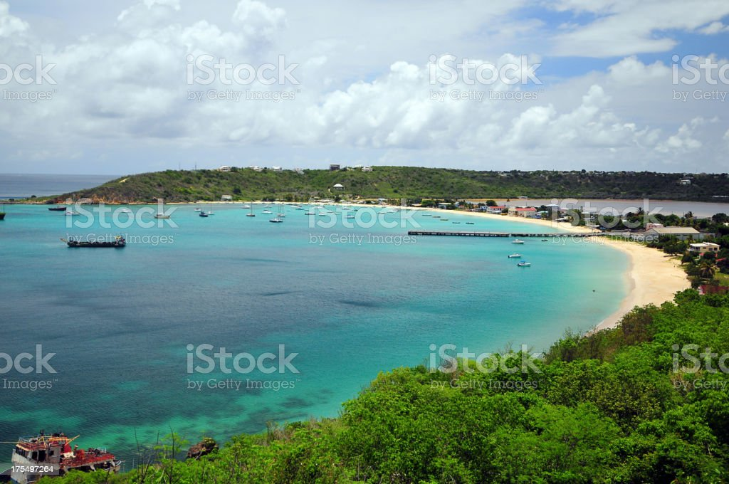 Sandy Ground, Anguilla stock photo