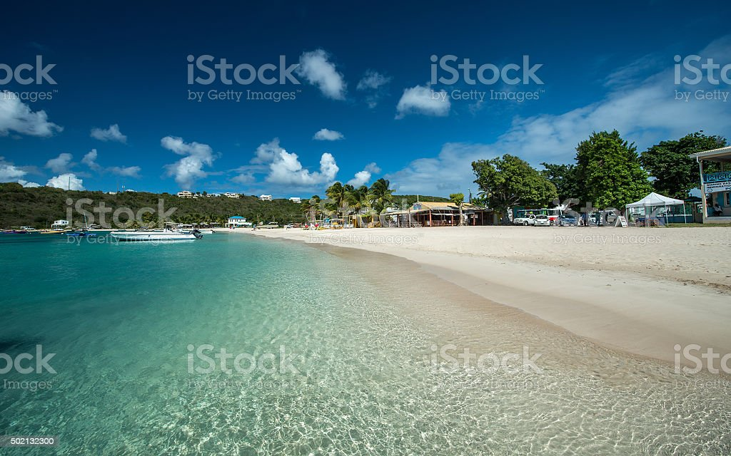 Sandy Ground Bay, Anguilla, English West Indies stock photo