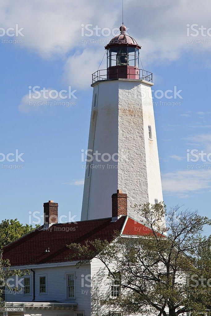 Sandy Hook Lighthouse, New Jersey stock photo