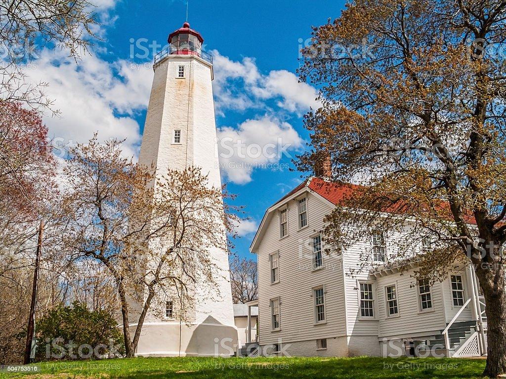 Sandy Hook Lighthouse stock photo