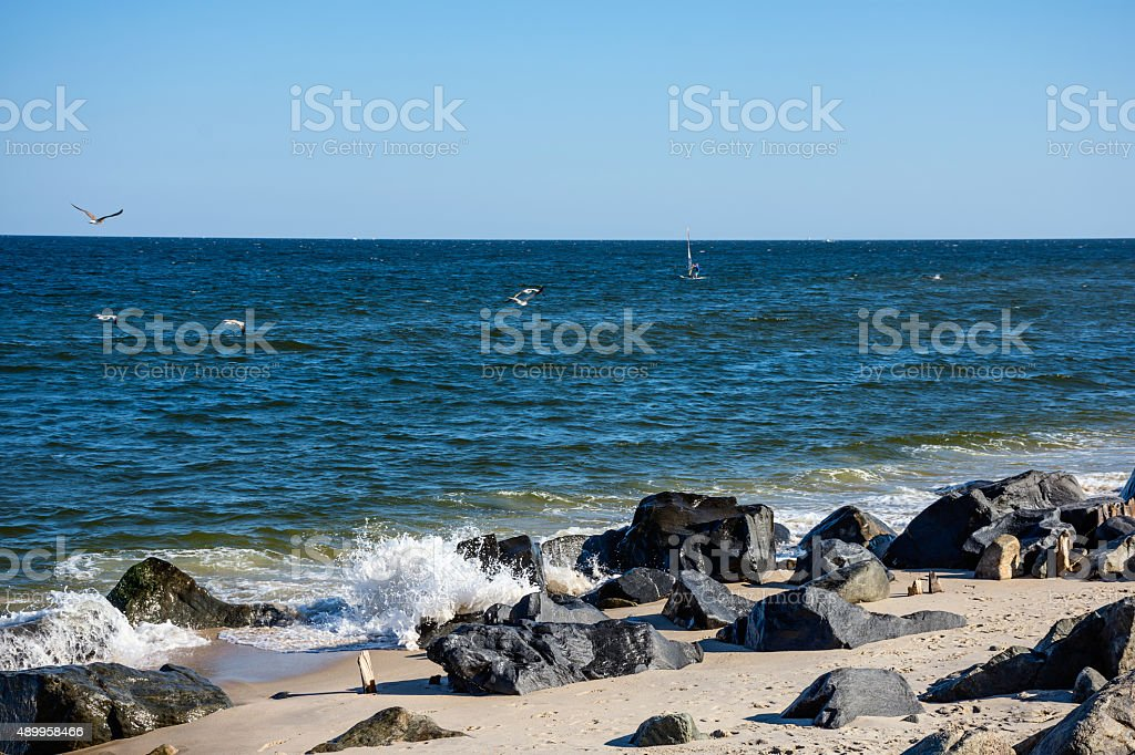 Sandy Hook Shoreline stock photo