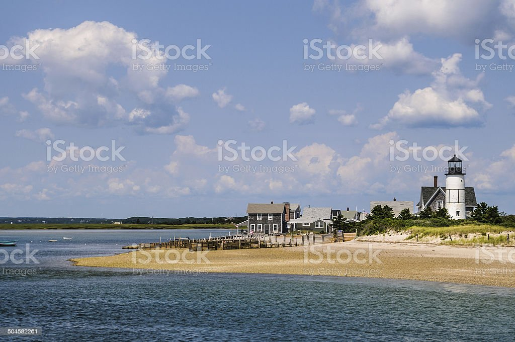 Sandy Neck Light and Cottages stock photo