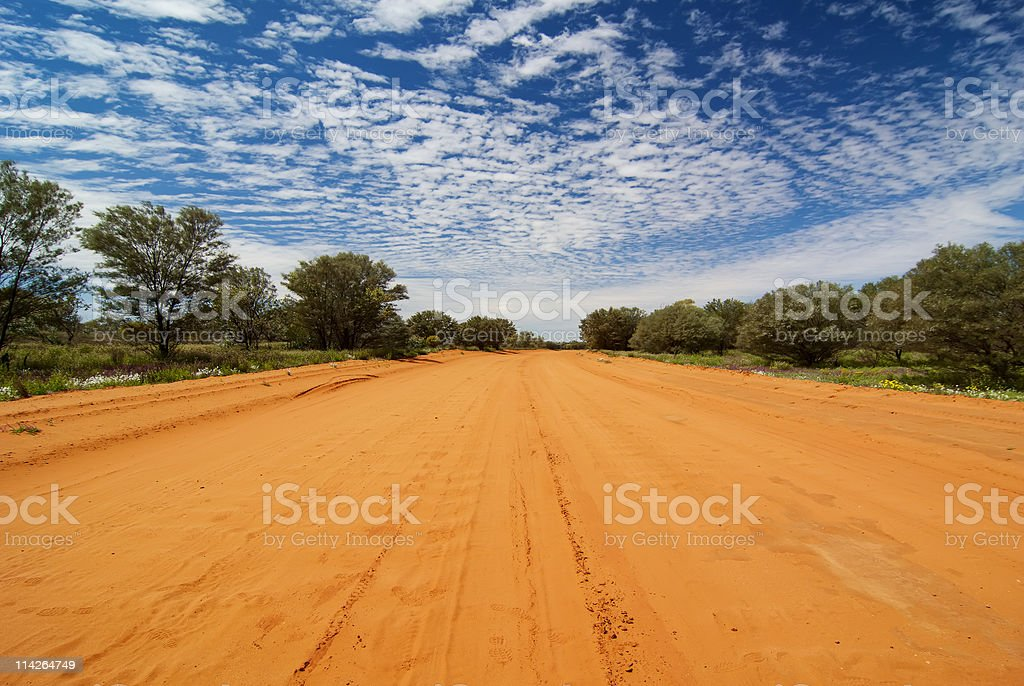 Sandy Outback Track royalty-free stock photo