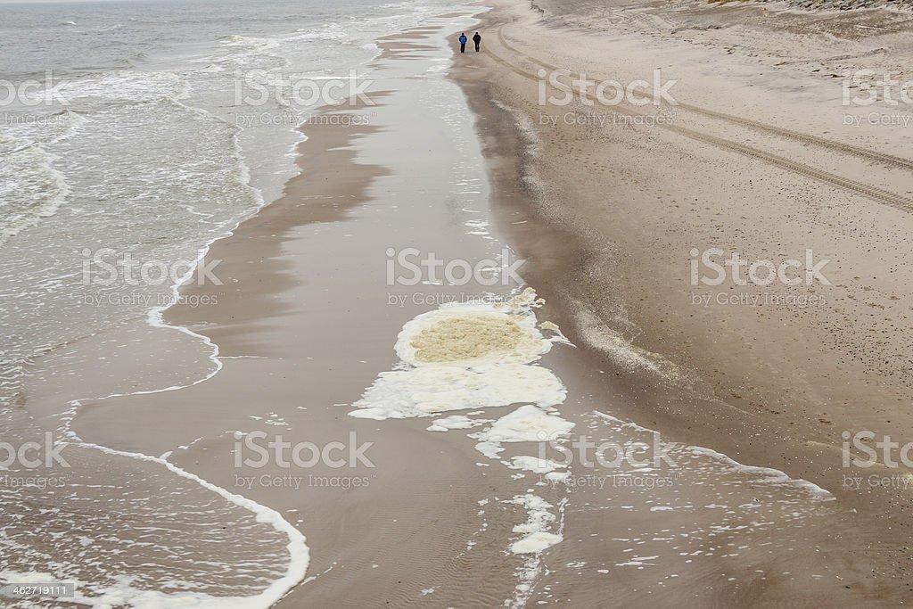 Sandy polish beach stock photo
