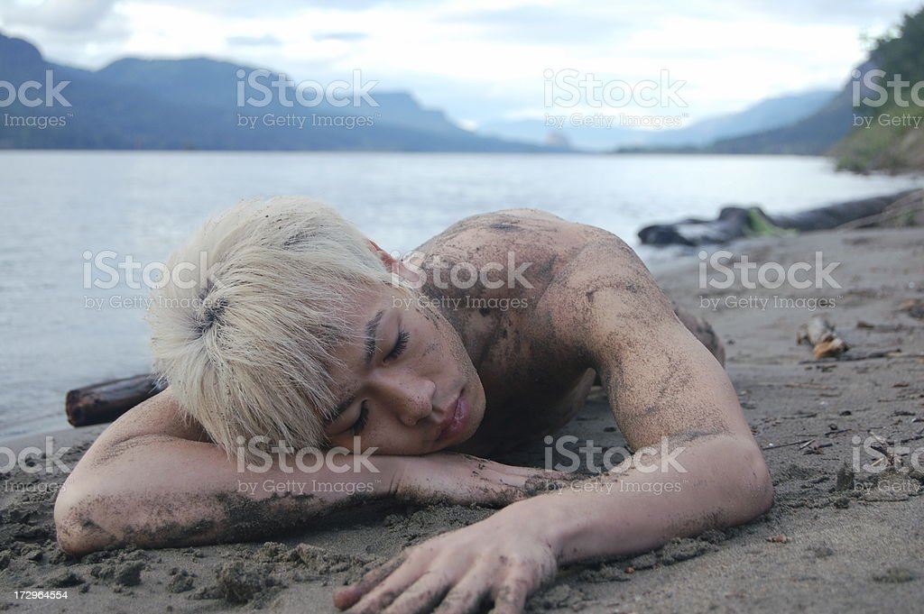 Sandy Sleep royalty-free stock photo