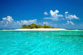 Sandy Spit, British Virgin Islands, the Caribbean