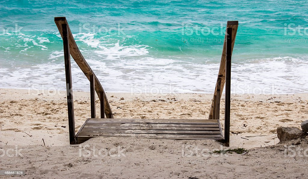 Sandy Stairs stock photo