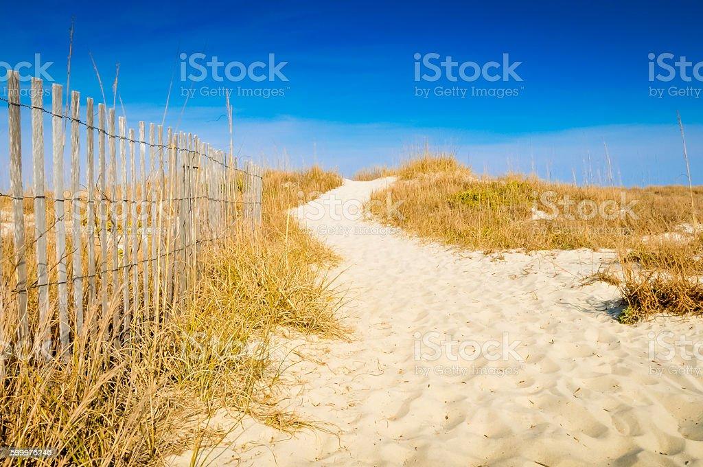 Sandy Walkway stock photo