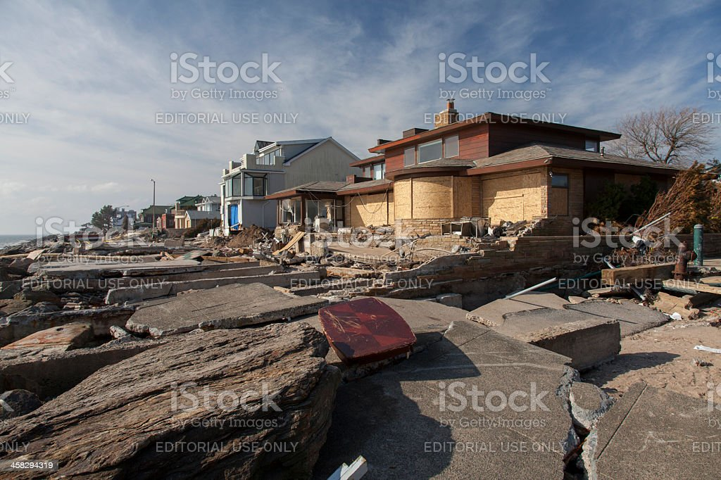Sandy's Aftermath stock photo