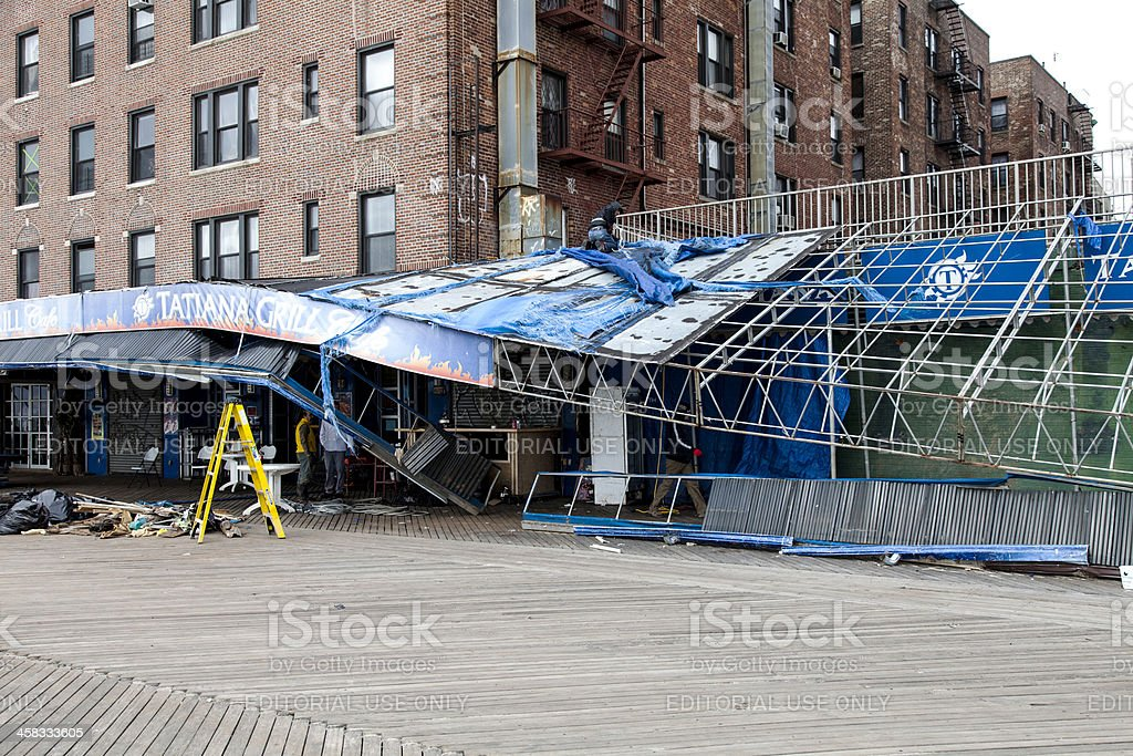 Sandy's aftermath stock photo