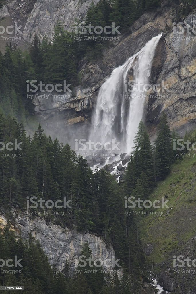 Sanetschfall, beautiful waterfall royalty-free stock photo
