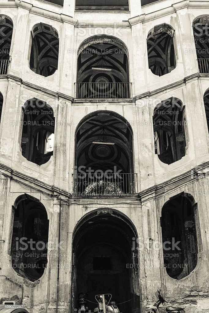 Sanfelice Residential Structure in Naples, Italy. stock photo