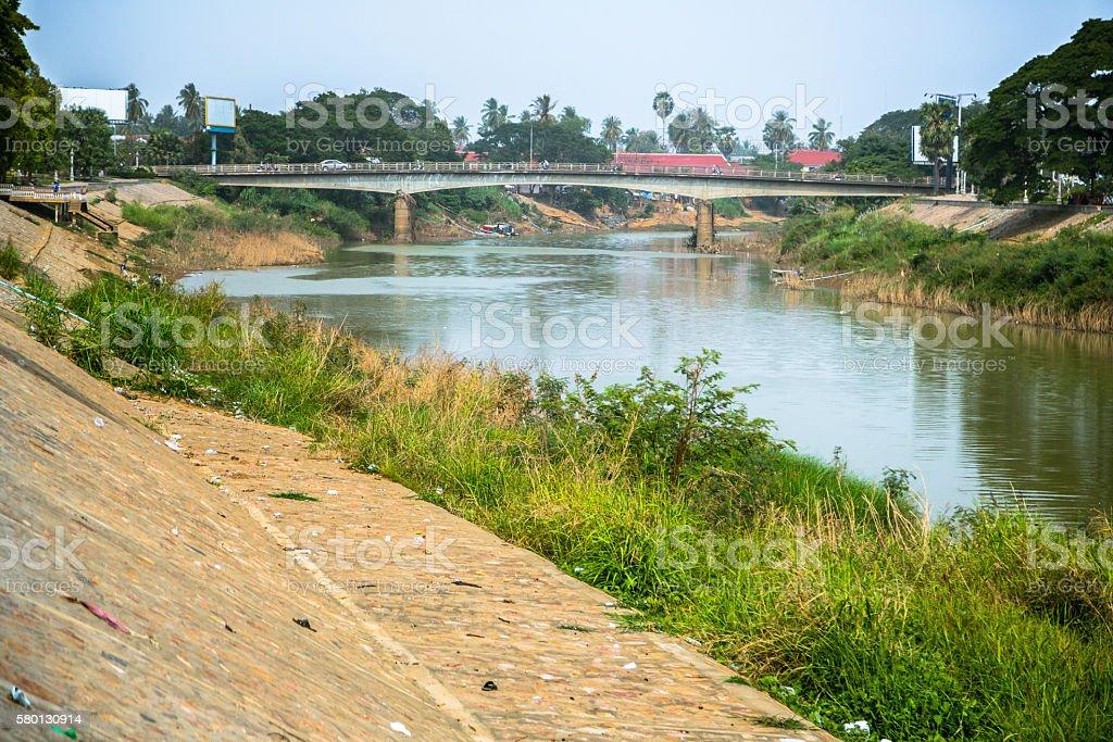Sangkae River in Cambodia stock photo