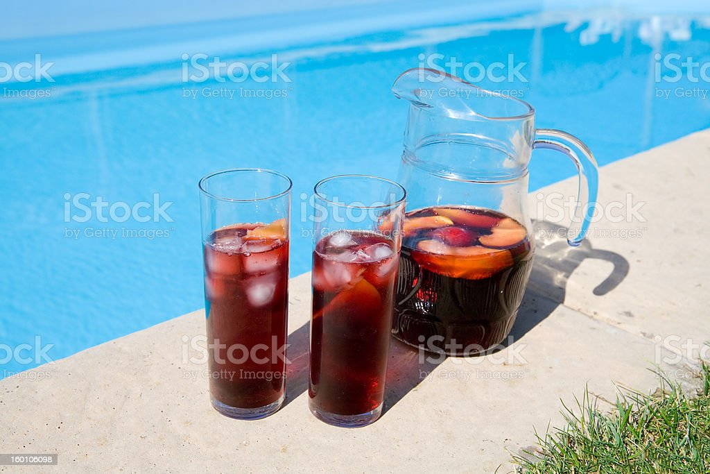 Sangria by the Pool royalty-free stock photo