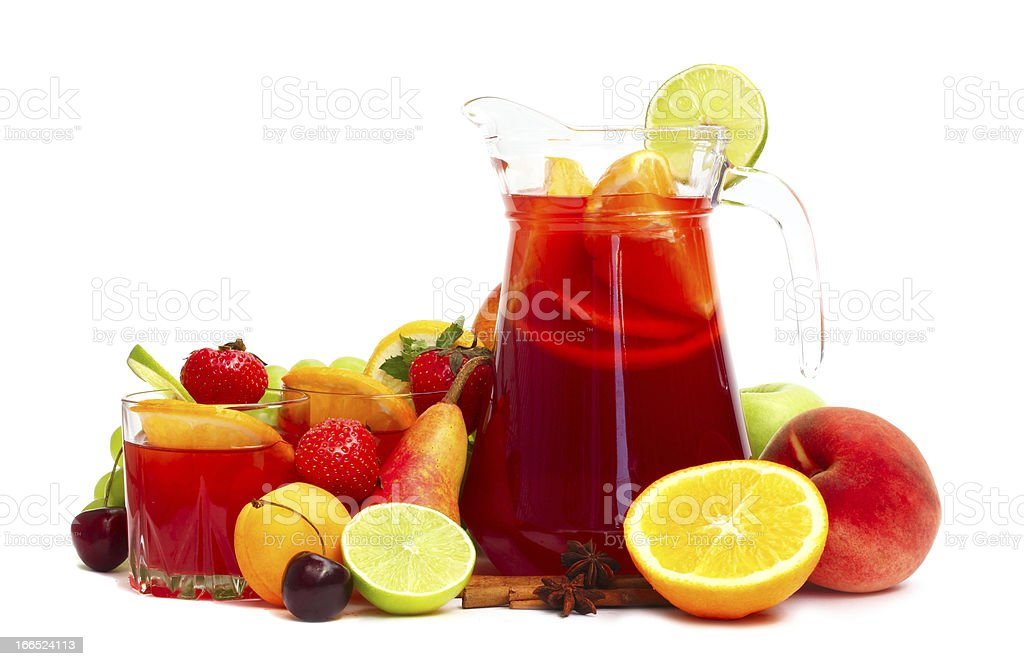 Sangris and fruits royalty-free stock photo