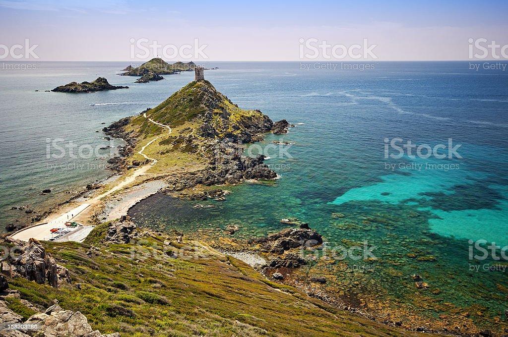 Sanguinaires island stock photo