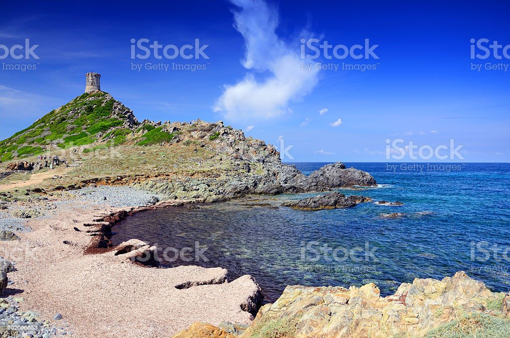 Sanguinaires islands, Ajaccio stock photo