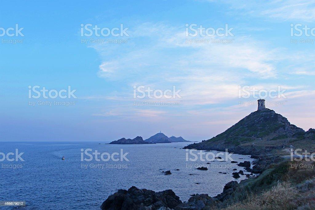 Sanguinaires Islands Archipelago near Ajaccio in Corsica France stock photo