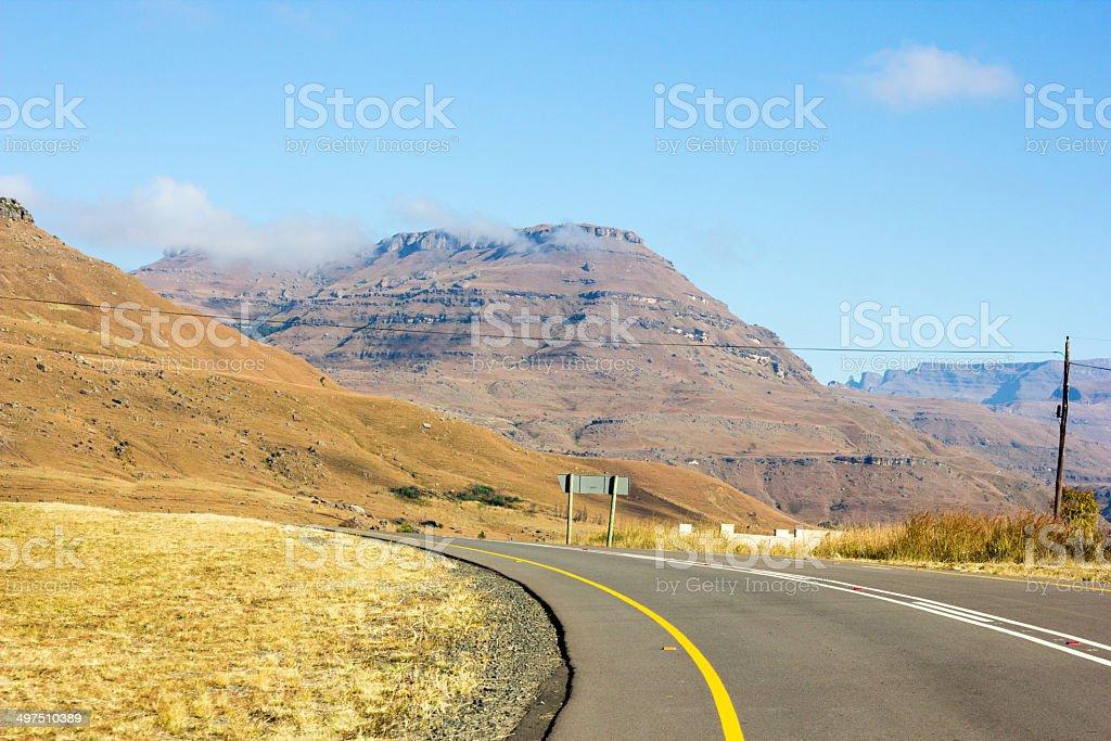 Sani Pass in KwaZulu-Natal, South Africa royalty-free stock photo