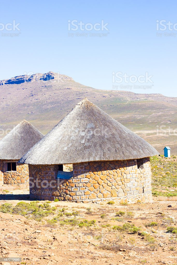 Sani Pass in the Eastern Highlands, Lesotho royalty-free stock photo