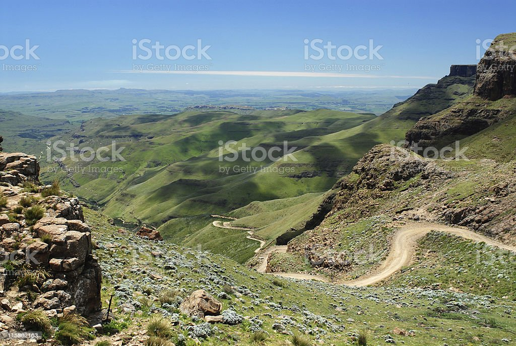 Sani pass stock photo
