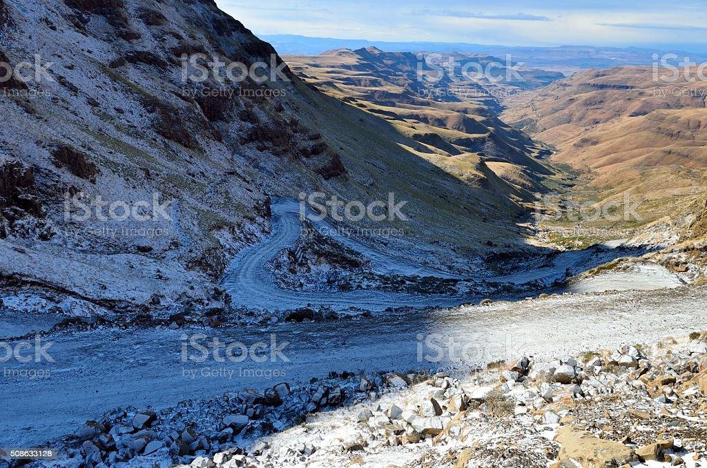 Sani Pass stock photo