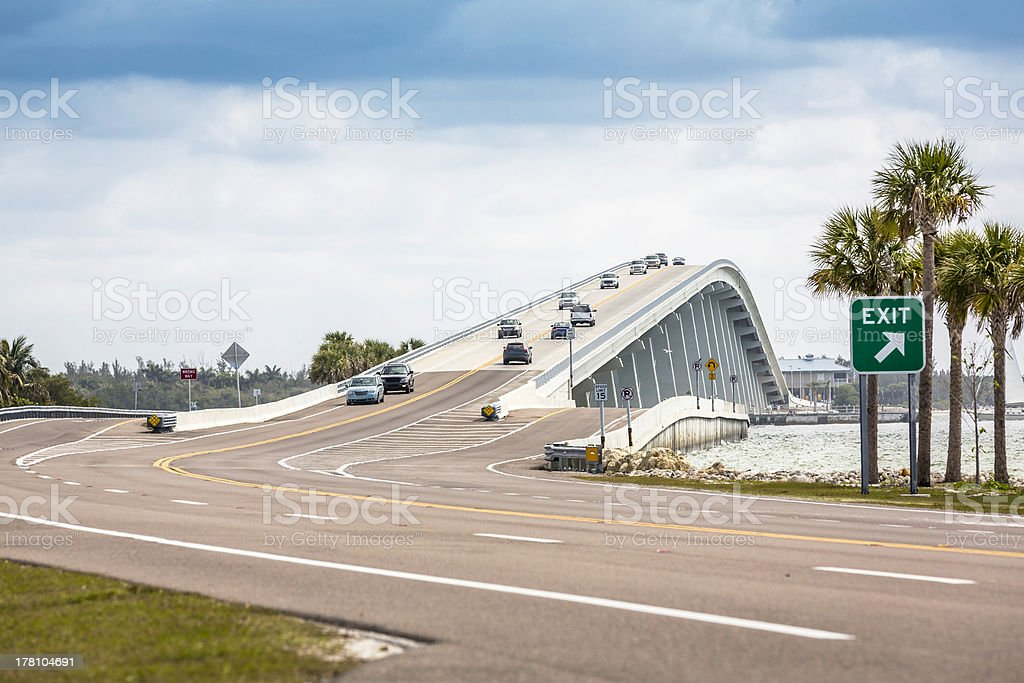 Sanibel Causeway And Bridge in Florida stock photo
