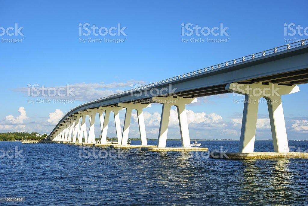 Sanibel Island Bridge, Florida stock photo